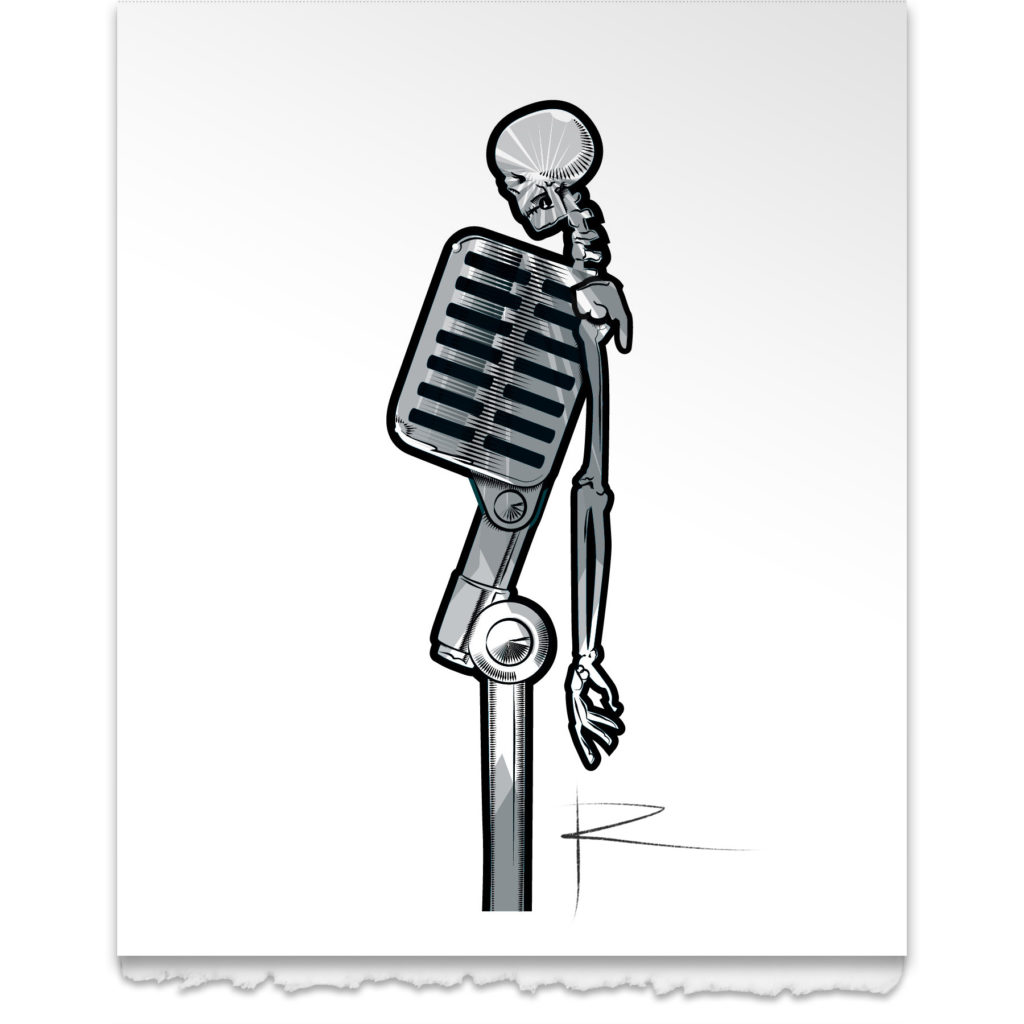 Mike the Microphone Art Card