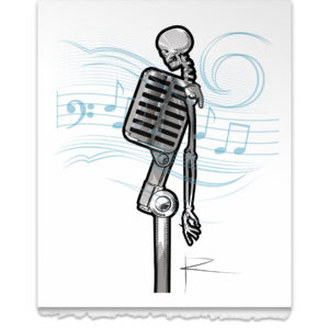 Mike the Microphone with Music Notes