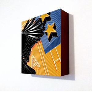 8x8 print on wood